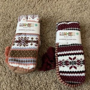 women's slipper Sox sz L/XL 8/10 by Muk Luks